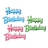 Lucks Dec-Ons Happy Birthday Script Assortment, 51 pk